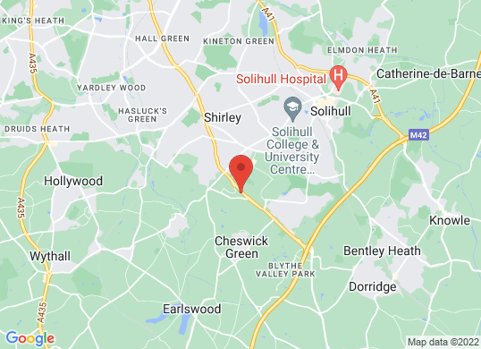 Solihull Audi's location