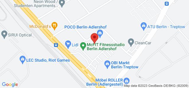 Karte zum POCO Einrichtungsmarkt Berlin-Adlershof nicht verfügbar