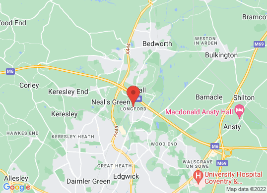 Listers Volkswagen Van Centre Coventry's location