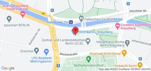 Karte zum POCO Einrichtungsmarkt Berlin-Kreuzberg nicht verfügbar