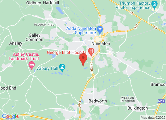 Drive Vauxhall Nuneaton's location