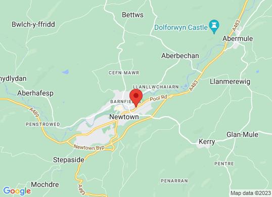 Arthurs Vauxhall Newtown's location
