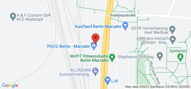 Karte zum POCO Einrichtungsmarkt Berlin-Marzahn nicht verfügbar