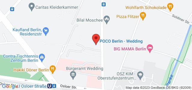 Karte zum POCO Einrichtungsmarkt Berlin-Wedding nicht verfügbar