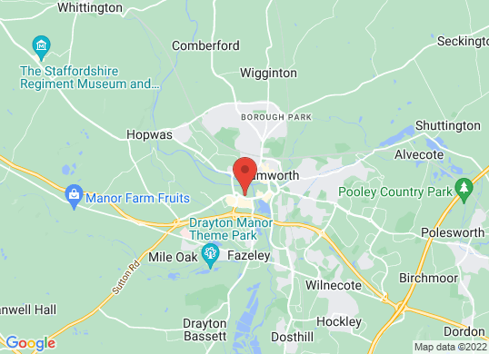 Tamworth Audi's location