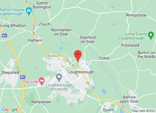 Pentagon Loughborough's location