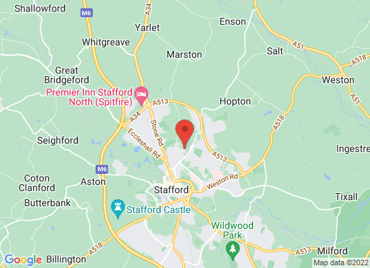 Stafford Land Rover's location