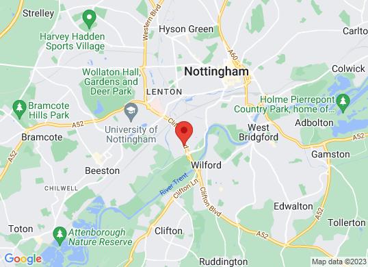 Sandicliffe Mazda Nottingham's location