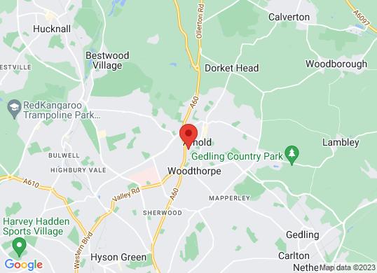 Pentagon Nottingham 's location