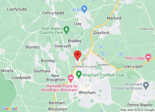 Wrexham Volkswagen's location