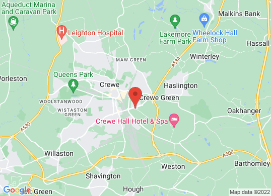 Crewe Audi's location