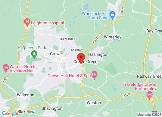 Swansway Jaguar Crewe's location