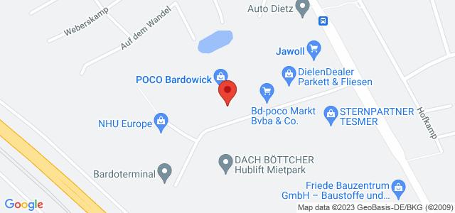 Karte zum POCO Einrichtungsmarkt Bardowick nicht verfügbar