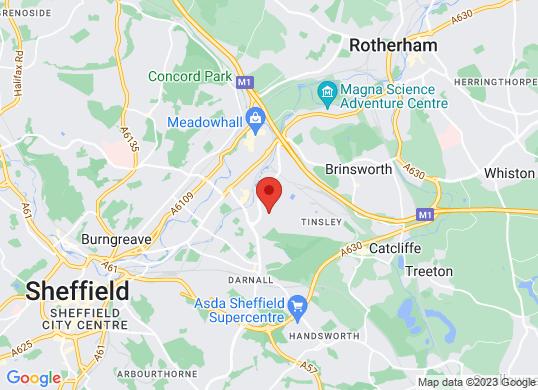 Volkswagen Van Centre Sheffield's location