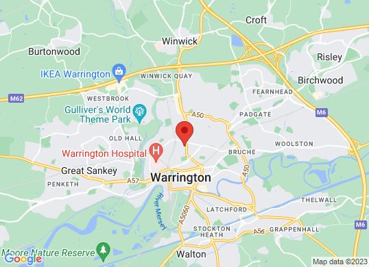 Pentagon Ford Warrington's location