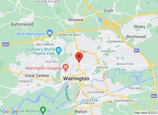 Warrington Motors (Fiat)'s location