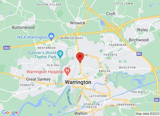 The Car Shop Warrington's location