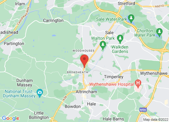 West Way Altrincham's location