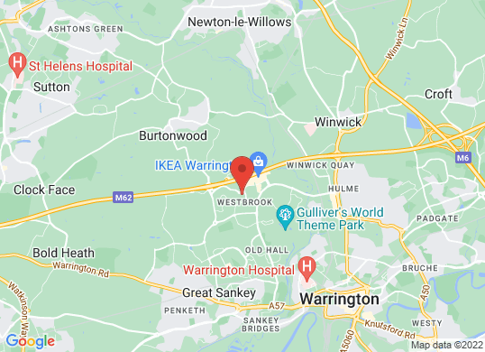 Warrington Audi's location