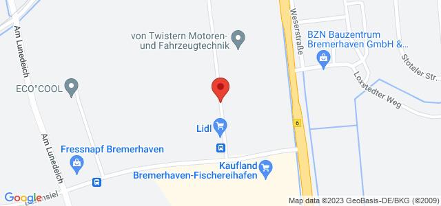 Karte zum POCO Einrichtungsmarkt Bremerhaven nicht verfügbar