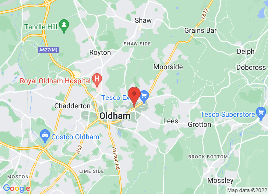 Oldham Motors Citroen, Fiat and Jeep 's location