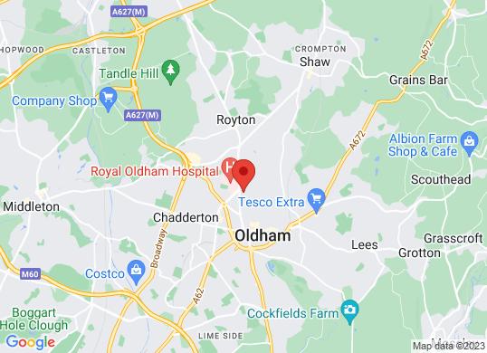 Oldham Audi's location