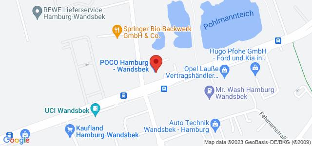 Karte zum POCO Einrichtungsmarkt Hamburg-Wandsbek nicht verfügbar