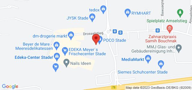 Karte zum POCO Einrichtungsmarkt Stade nicht verfügbar