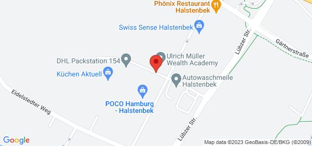 Karte zum POCO Einrichtungsmarkt Hamburg-Halstenbek nicht verfügbar
