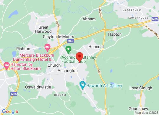 Accrington Garages's location