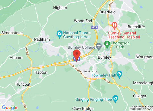 Perrys of Burnley's location