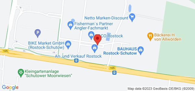 Karte zum POCO Einrichtungsmarkt Rostock nicht verfügbar