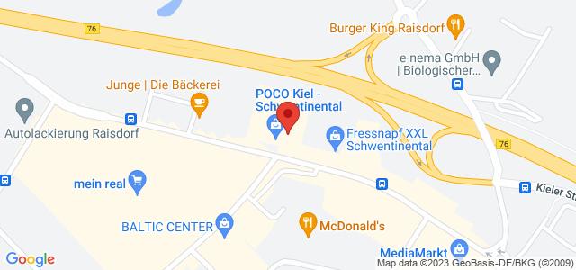 Karte zum POCO Einrichtungsmarkt Kiel nicht verfügbar