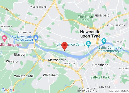 Newcastle Audi's location
