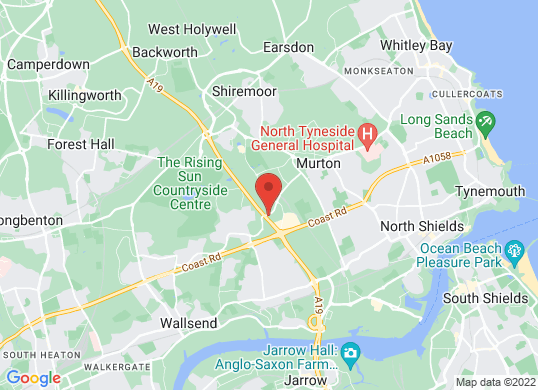 Tyneside Audi's location