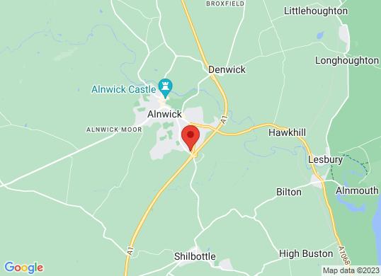 Prestige Cars Northumberland's location