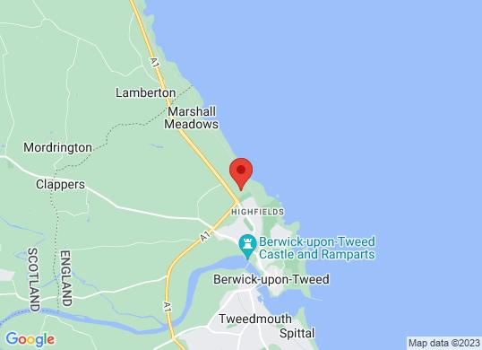 Tustain Motors Berwick-upon-Tweed's location