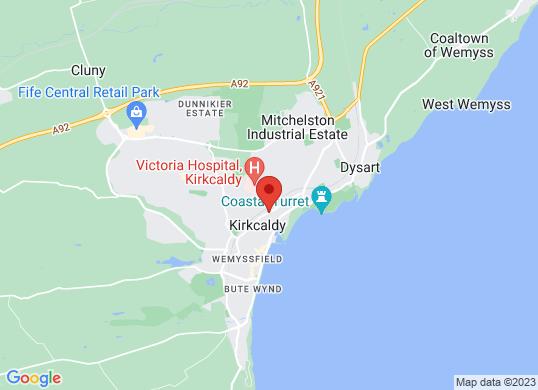 The Kirkcaldy Motor Company's location