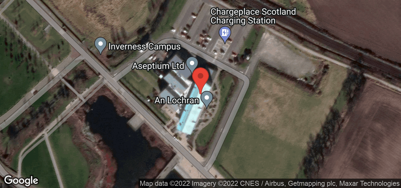 Map of UHI Inverness Campus