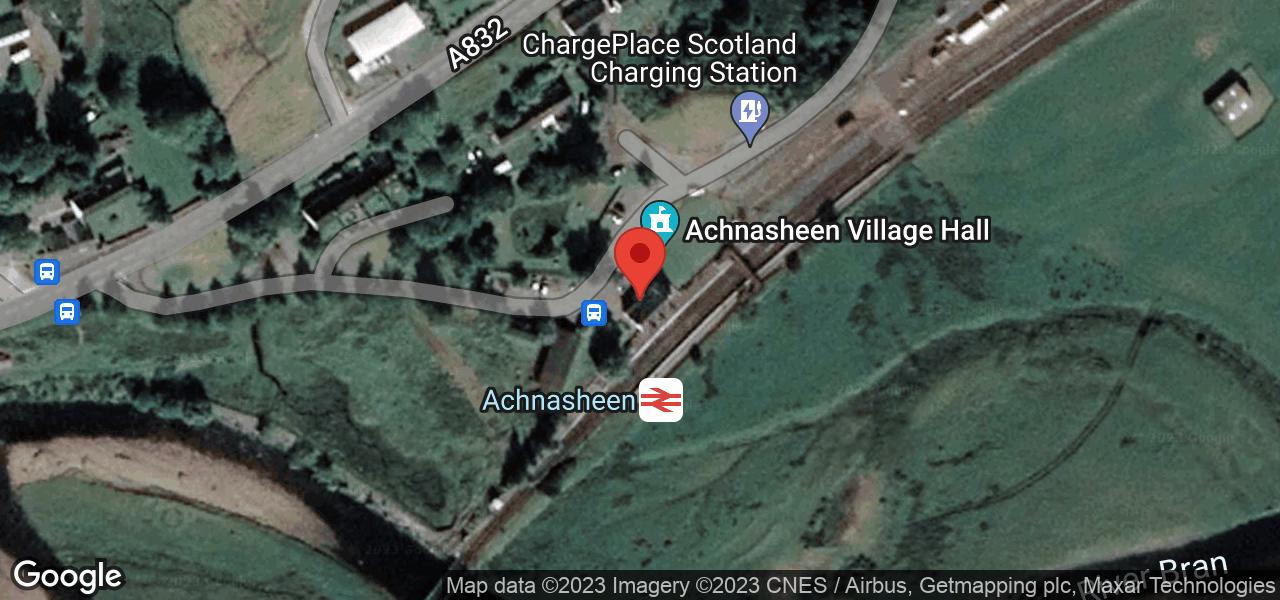 Map of Achnasheen Village Hall