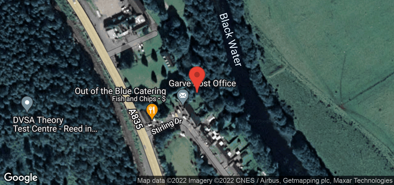 Map of Garve Public Hall