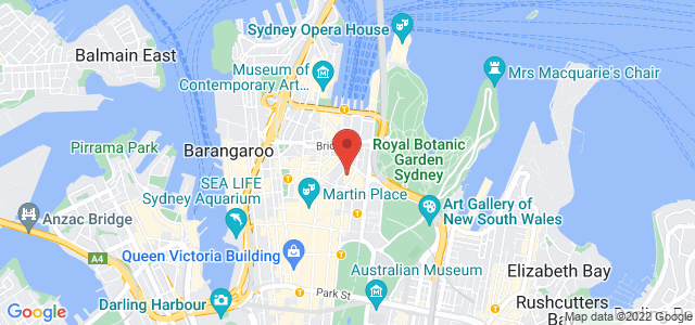 Sofitel Sydney Wentworth location on map