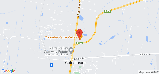 Coombe Yarra Valley location on map