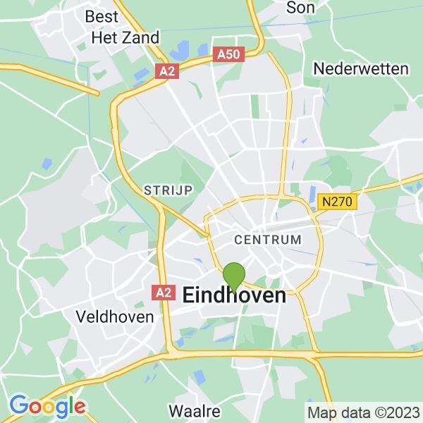 Werkgebied van onze bestrijder in Eindhoven