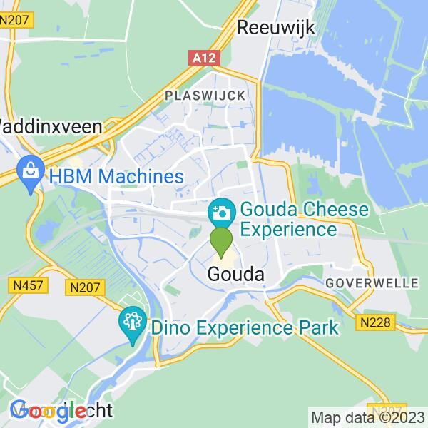 Werkgebied van onze bestrijder in Gouda