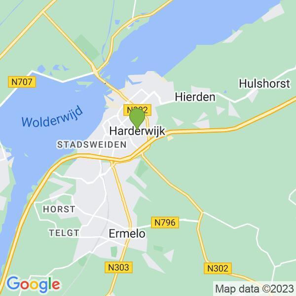 Werkgebied van onze bestrijder in Harderwijk