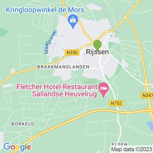 Werkgebied van onze bestrijder in Rijssen