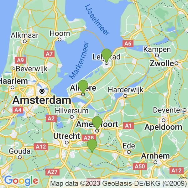 Werkgebied van onze bestrijder in Lelystad