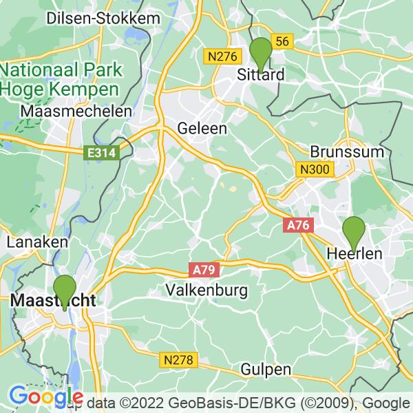 Werkgebied van onze bestrijder in Heerlen