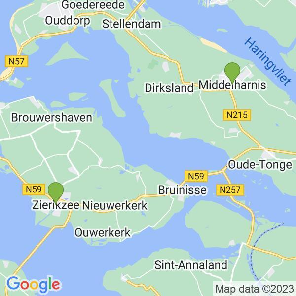 Werkgebied van onze bestrijder in Zierikzee